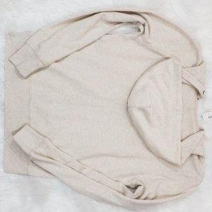 JCrew cream zip up hoodie Large